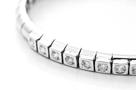diamond necklace: platinum lace decorated with diamonds