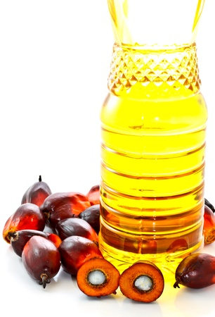 fruits de palmiers à huile et l'huile de palme Banque d'images