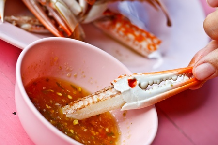 Thai food, crab claw with spicy sauce Stock Photo - 12785072