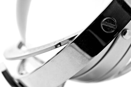 abstract image of stainless steel rings on white background Stock Photo - 12785057