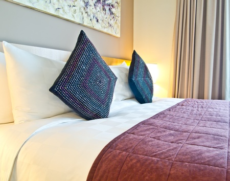 decoration of a modern style hotel room photo