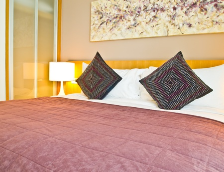 decoration of a modern style hotel room Stock Photo - 12785366