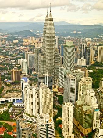 Kuala Lumpur city and its famous twin towers, Malaysia