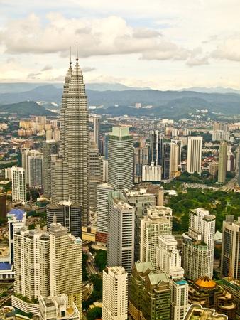 klcc: Kuala Lumpur city and its famous twin towers, Malaysia Editorial