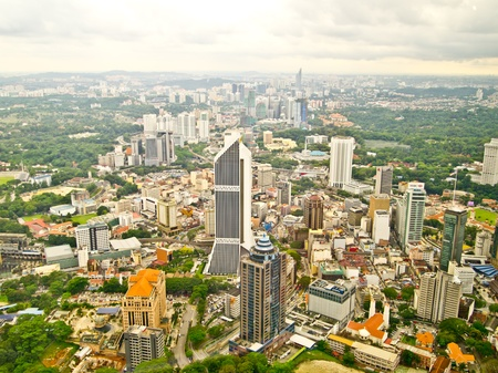 kuala lumpur city: Kuala Lumpur city from KL tower, Malaysia Editorial