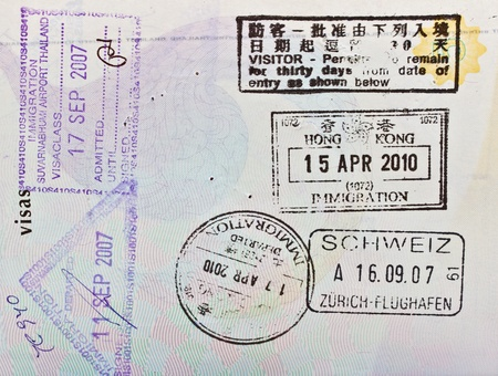 asian: passport stamps