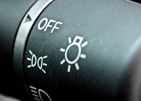 light switch: car lighting control switch