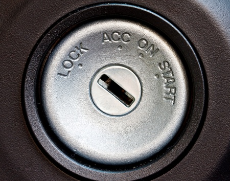 car engine start key hole
