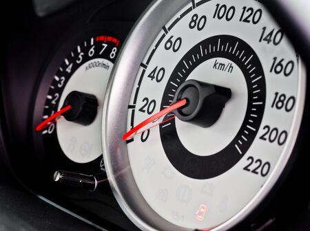 car speed meter, sporty style photo