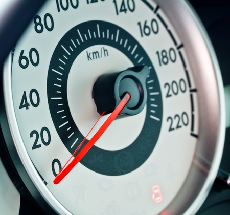 gas gauge: car speed meter, sporty style Stock Photo