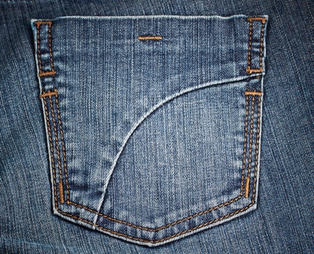 cloth back: background of jean pocket