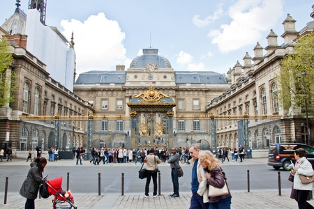 Tourists at Palais de Justice, Paris, France