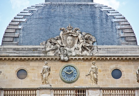 Roof of the Palais de Justice, Paris, France photo