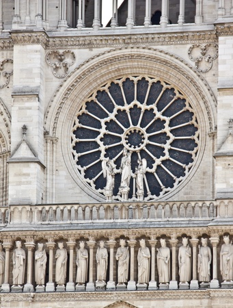 chartres: Rose window from outside of the Notre Dame Cathedral, Paris