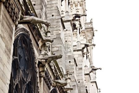 notre dame de paris: Exterior of Notre Dame Cathedral, Paris