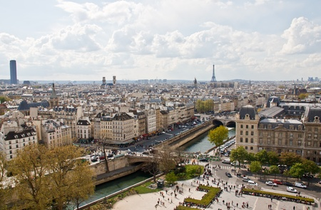 notre: Paris s skyline from the top of Notre Dame Cathedral