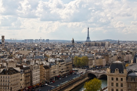 Paris s skyline from the top of Notre Dame Cathedral photo
