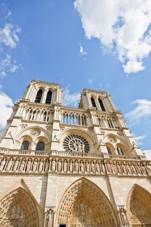 Notre Dame Cathedral, Paris againt blue sky photo