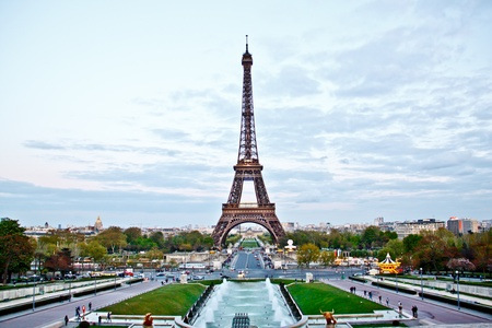 Eiffel tower in the evening, Paris, France Stock Photo - 13419092