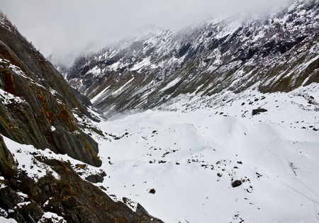 Mer de Glace, the largest glacier in France photo