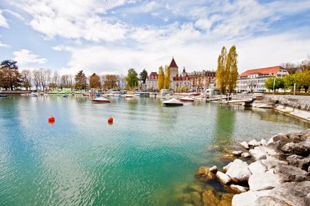 swiss: Lake Geneva, Lausanne, Switzerland