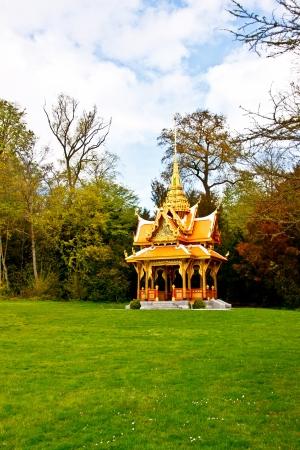 pavillion: Thai pavillion in the park near Lake Geneva, Lausanne, Switzerland