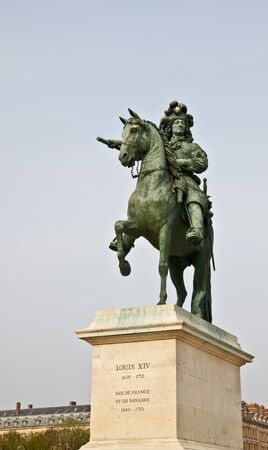 statue of Louis XIV at Versailles palace, France Stock Photo - 13951825