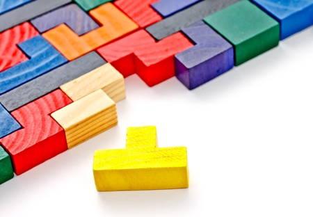 colorful wooden puzzle photo