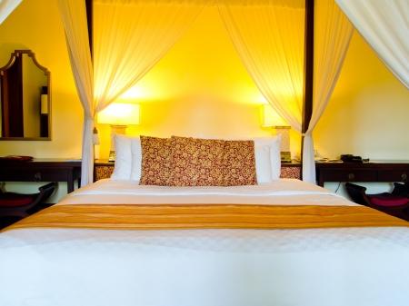 butique style hotel room in Bali Editorial