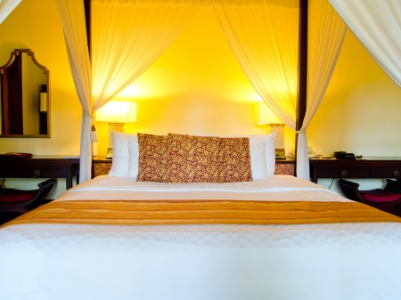 butique style hotel room in Bali Editorial