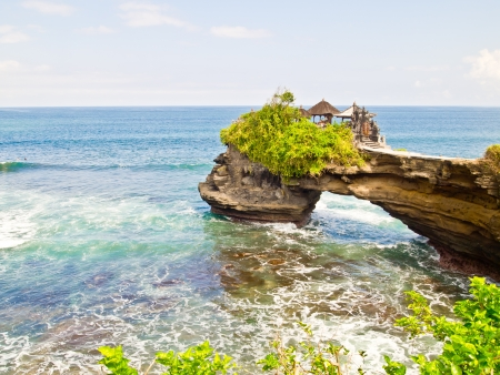 The old Hindu temple Tanah Lot, Bali, Indonesia Stock Photo