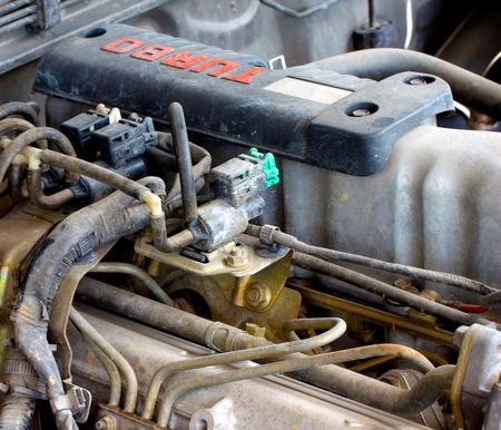 kw: old diesel turbo engine Stock Photo