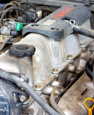 old diesel turbo engine photo