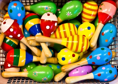 colorful maracas for sale Stock Photo