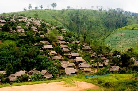 the borderline: refugee village in Thailand near Myanmar borderline