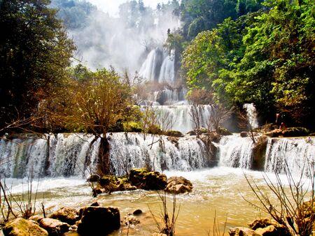 named: beautiful waterfall in Thailand named Tree Lor Su
