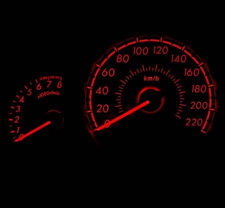 high torque: car speed meter in racing style Stock Photo