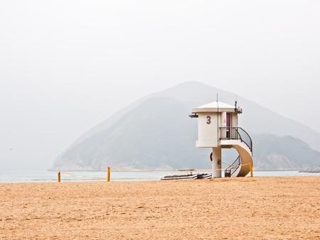 lifeguard tower: lifeguard observation tower at Repulse bay, Hong Kong, China