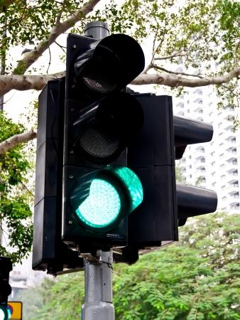 warning lights: traffic light on green
