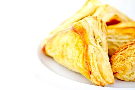 flaky: pies on white background