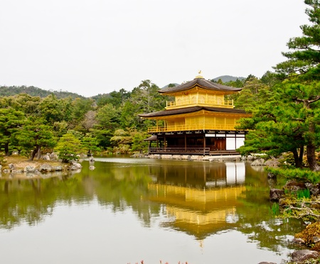golden pavillion of Kinkaku-ji temple, Kyoto, Japan