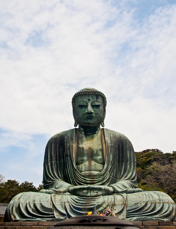 Daibutsu, big Buddha at Kamakura, Japan photo
