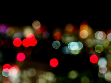 colorful bokeh in the city photo