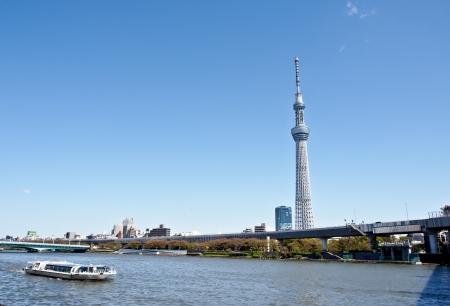 tokyo sky tree: Tokyo skytree with blue sky Editorial