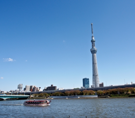 sights: Tokyo skytree with blue sky Editorial