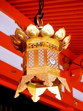 Japanese lantern at shrine in Japan