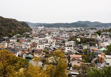 kamakura: landscape of Kamakura town, Kamakura, Japan Stock Photo