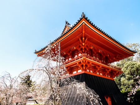 ninnaji: drum house of Ninnaji temple, Kyoto, Japan Stock Photo