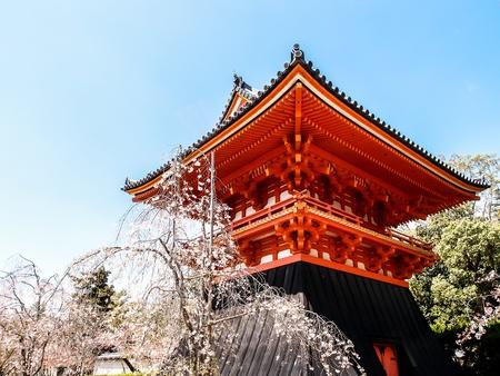drum house of Ninnaji temple, Kyoto, Japan Standard-Bild