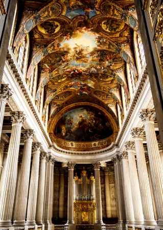 king palace: church in Versailles palace, France